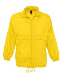 Ветровка непромокающая SOL'S SURF-32000 желтая
