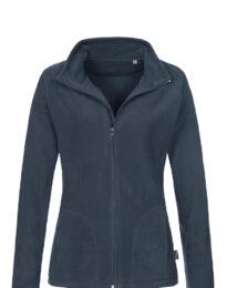 Флисовая кофта женская B&С ID 501 темно-синяя