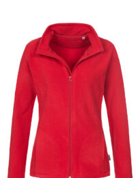 Флисовая кофта женская B&С ID 501 красная