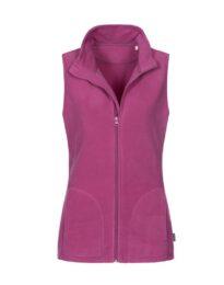 Флисовая жилетка женская Stedman ACTIVE FLEECE VEST WOMEN фиолетовая