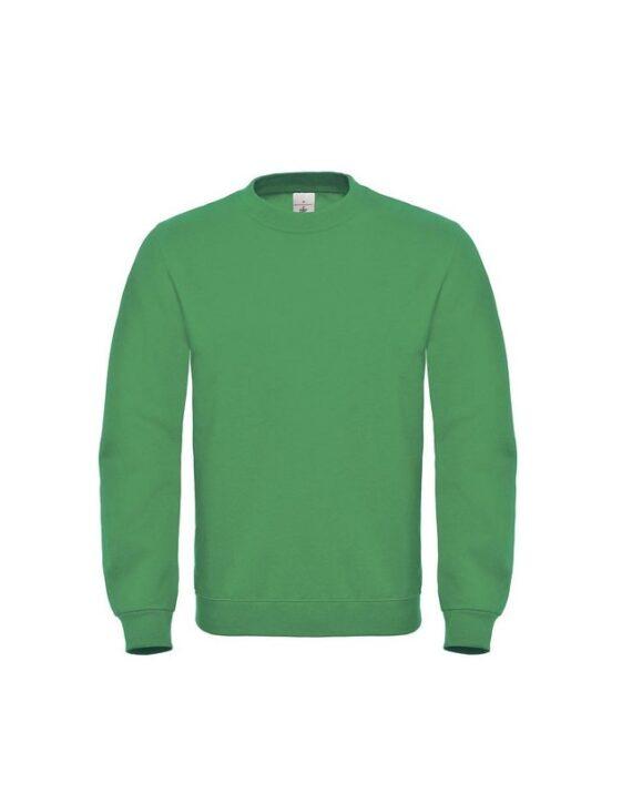 Свитшот унисекс B&C ID 002 (80/20) зеленый