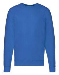 Свитшот облегченный унисекс FOL Lightweight Raglan Sweat синий