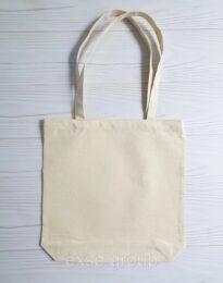 Эко сумка шоппер из двунитки,размер 35х38х7 см 210гр/кв.м бежевая