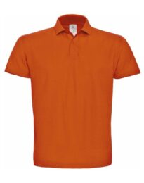 Футболка поло мужская B&C ID.001 оранжевая