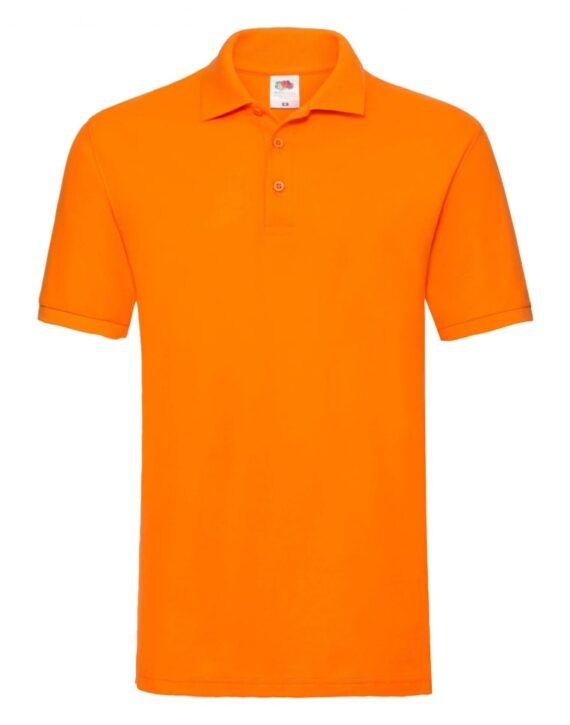 Футболка поло мужская FOL Premium Polo оранжевая