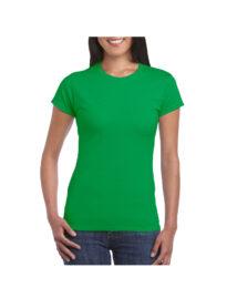 Футболка женская SoftStyle 153 зеленая