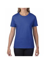 Футболка женская Premium Cotton 185 синяя