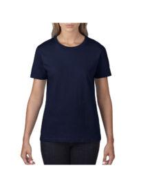 Футболка женская Premium Cotton 185 темно-синяя