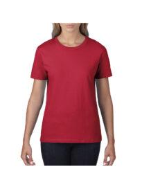 Футболка женская Premium Cotton 185 красная