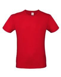 Футболка мужская  B&C #E150 красная
