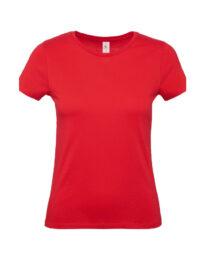Футболка женская  B&C #E150 красная