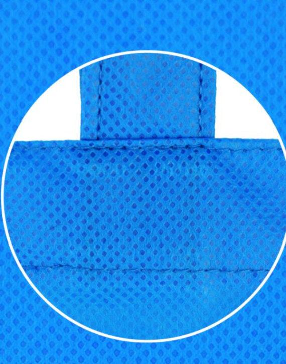 Сумка  из спанбонда голубая - Фото №3